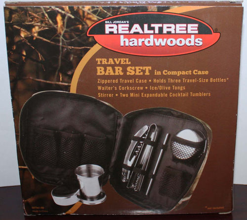 5 pc Bill Jordan Realtree Hardwoods Travel Bar Set With Camo Case 07327