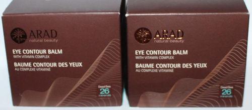 Lot 2 ARAD Natural Beauty Eye Contour Balm With Vitamin Complex 1.7 oz Each 07213