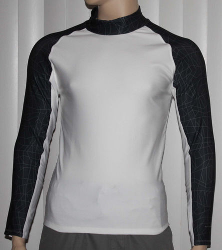 Layer 8 Men's Qwick-Dry Base Layer Mock Neck Long Sleeve Shirt _White -Size Small 06809