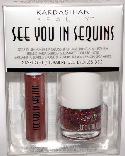 KARDASHIAN SEE YOU IN SEQUINS Lip Gloss STARLIGHT Polish LUMIERE DES ETOILES 06632