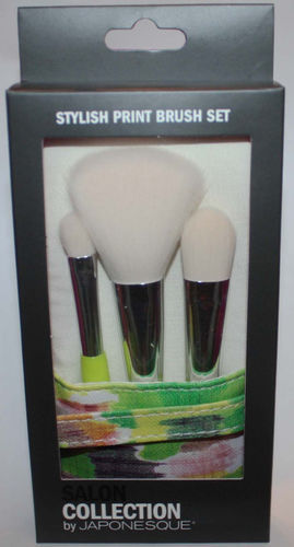 Salon Collection By JAPONESQUE Stylish Print Makeup Brush Set 06480