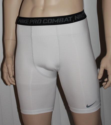 Nike PRO COMBAT Dri-Fit Base Layer Compression Under Shorts -White (XX-Large) 06101