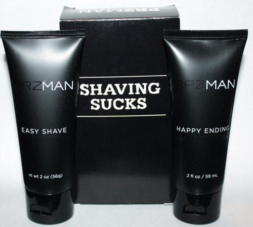 PRZMAN Shaving Sucks Easy Shave Lube & Happy Ending After Shave Healer 2 oz 05719