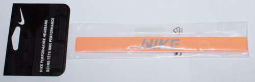 "Nike Performance Unisex ¾"" Peach/Gray ""NIKE"" Headband (One Size) 05648"