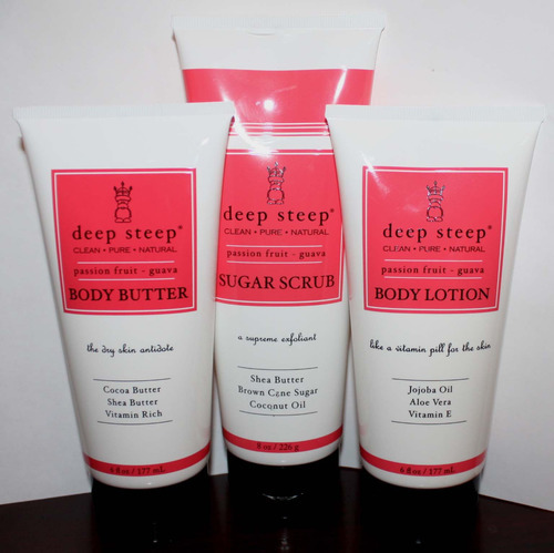 1 Deep Steep Body Butter 1 Body Lotion and 1 Sugar Scrub Passion Fruit * Guava 05572