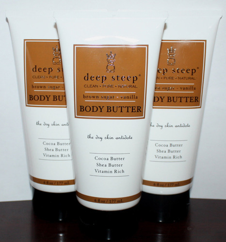 Lot Of 3 Deep Steep Brown Sugar * Vanilla Body Butter 6 oz Each 05560