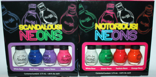 Nicole By OPI Mini NOTORIOUS! Neon & SCANDALOUS! Neon Nail Polish Set *Reduced* 05531