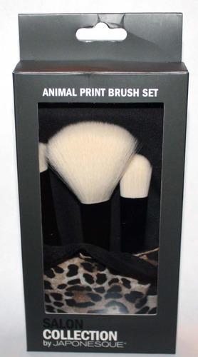 Salon Collection By JAPONESQUE Animal Print Makeup Brush Set 05194