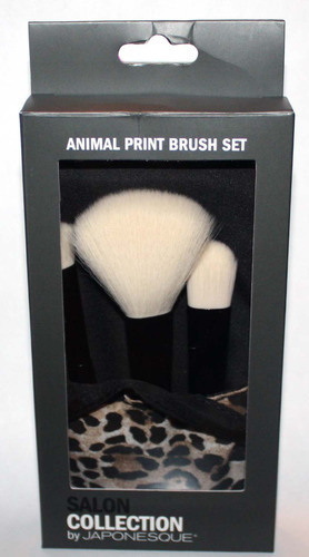 Salon Collection By JAPONESQUE Animal Print Makeup Brush Set
