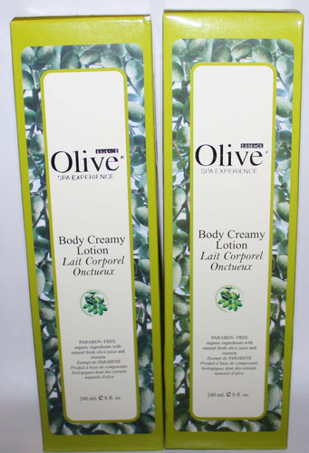 Lot Of 2 Olive Essence Body Creamy Lotion 8 oz Each 03972