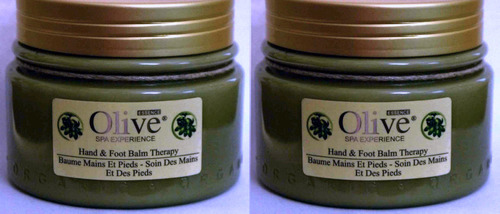Lot Of 2 HOME SPA COLLECTION Olive Essence Hand And Foot Balm Therapy 8 oz Ea