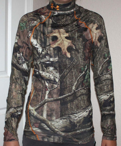 Under Armour Men's Coldgear Fitted Mossy Oak Infinity Camo Shirt (Small) 03794