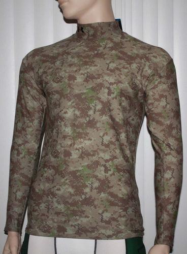 Under Armour Men's Coldgear Moisture Transport Abstract Print Shirt 03789
