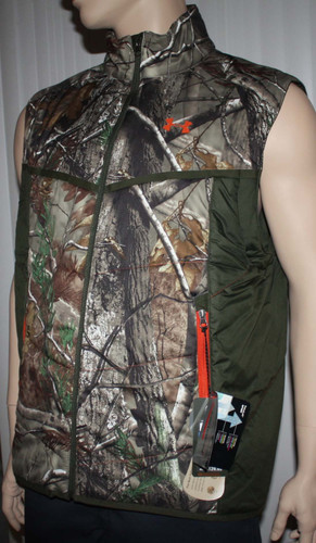 Under Armour Men's Coldgear RealTree Camo Wind & Water Resistant Vest (Small) 03769