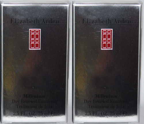 Lot Of 2 ELIZABETH ARDEN Millenium Day Renewal Emulsion 2.5 oz  Each 03643