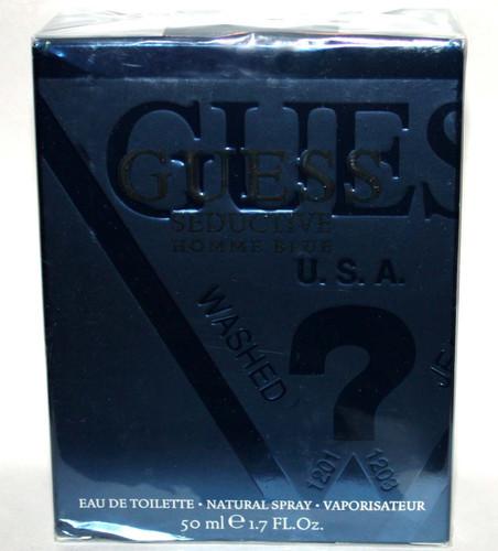GUESS Seductive Homme Blue Eau De Toilette Spray for Men 1.7 oz 03243