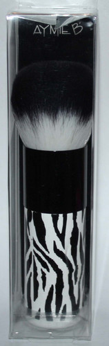 Aymie B' GOTTA B URBAN Black & White Zebra Print Bronzer Brush 03128