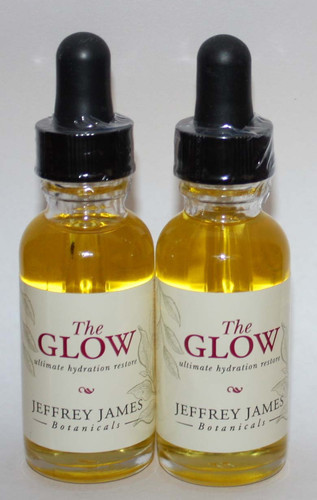 Lot Of 2 Jeffrey James Botanicals THE GLOW Ultimate Hydration Restore 1 oz Each *Reduced* 03123