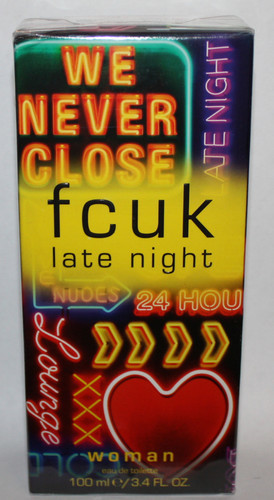 fcuk French Connection late night woman eau de toilette 3.4 oz 02888