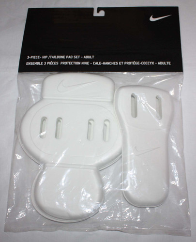 Nike Unisex Adult White Molded Foam 3 Piece Hips & Tailbone Pad Set 02828