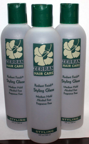 Lot Of 3 Zerran Radiant Finish Medium Hold Styling Hair Glaze 8 oz Each *Reduced* 02799