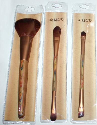 Set Of 3 Aymie B Powder, Foundation*Concealer, Eyeshadow*Eyeliner Brushes 02751
