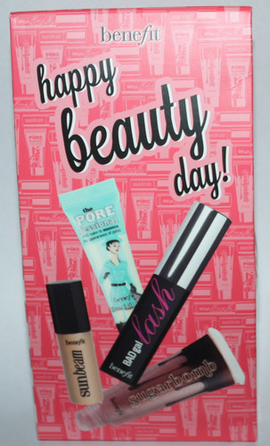 Benefit HAPPY BEAUTY DAY Porefessional, Sun Beam, Badgal Lash, Ultra Plush Sugarbomb 02394