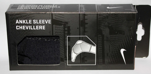 Nike Unisex Black Compression Support Ankle Sleeve (Small) 02363