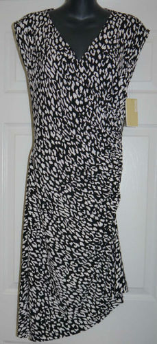 Michael Kors Women's Black Abstract Print Dress  (Size 6) 02338