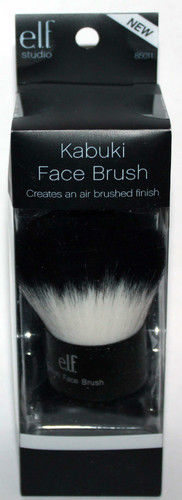 elf Studio Black & White Taklon KABUKI Face Brush #85011 01785