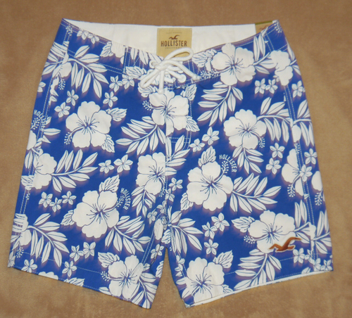 Hollister Men's MALIBU Hawaiian Print Board Shorts (several sizes) 01113