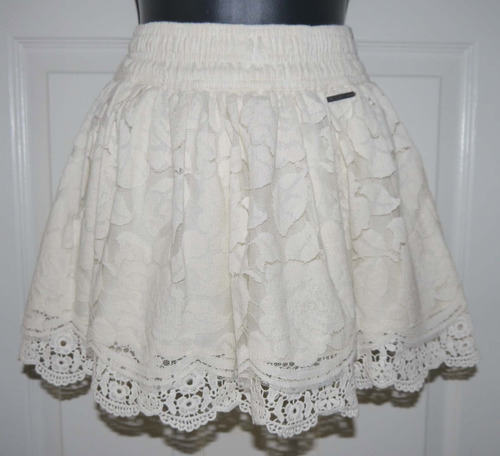 Abercrombie & Fitch JORIE Women's Cream Floral Lace Mini Skirt *Reduced*(X-Small) 00843