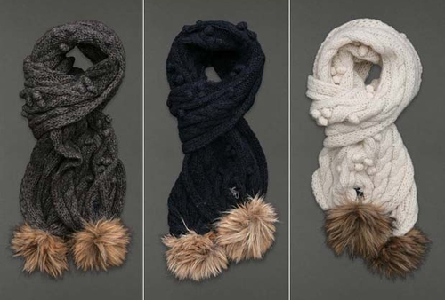 Abercrombie and Fitch Womens Soft Cable Knit Scarf (Several Colors) 00831
