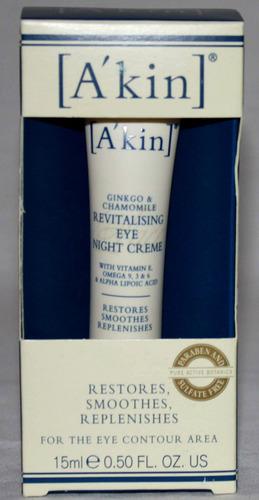 A'Kin Ginkgo & Chamomile Revitalizing Eye Night Creme .50oz (Reduced) 00815