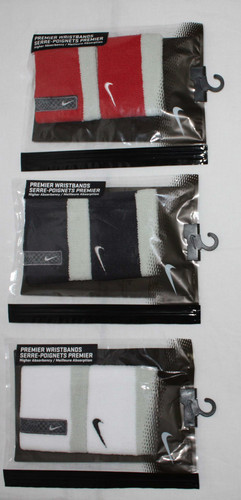 "2 Pk Nike Unisex Premier Reversible 2½"" High Absorbency Wristbands (Several Choices) 00794"
