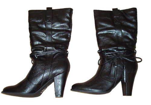Guess DUKE Women's Mid Height Slouchy Black Boots (Size 10 Medium) *Reduced* 00685