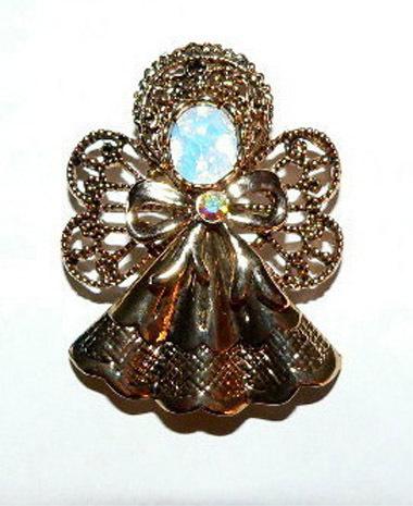 Fashion Jewelry Angel Rhinestone Pin Brooch 00636