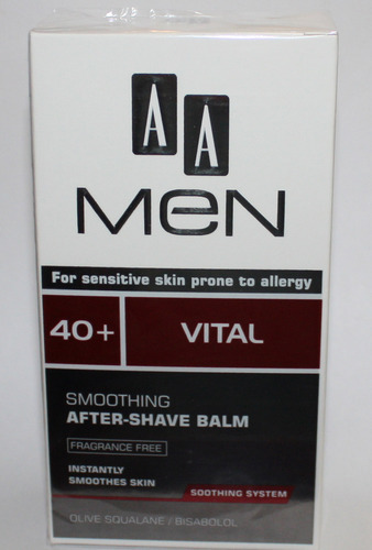 AA Men 40+ Vital Fragrance Free Smoothing After Shave Balm 3.4 oz 00545