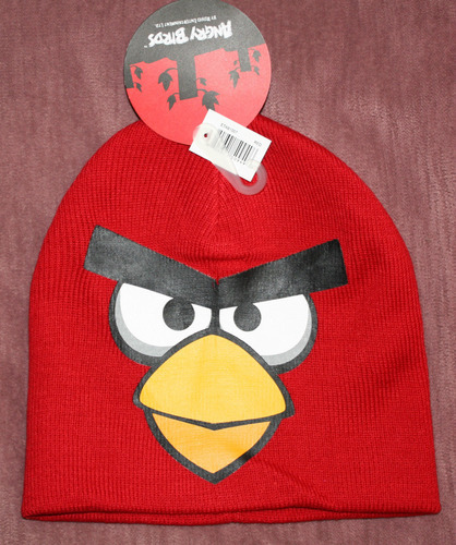ANGRY BIRDS Boy's Red Graphic Beanie Cap (One Size) 00544