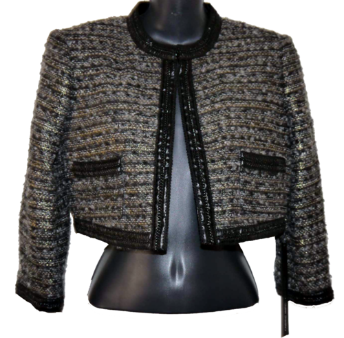 Bebe SERENA Women's Multi-Colored Tweed Cropped Jacket (Size 4) *Reduced* 00015