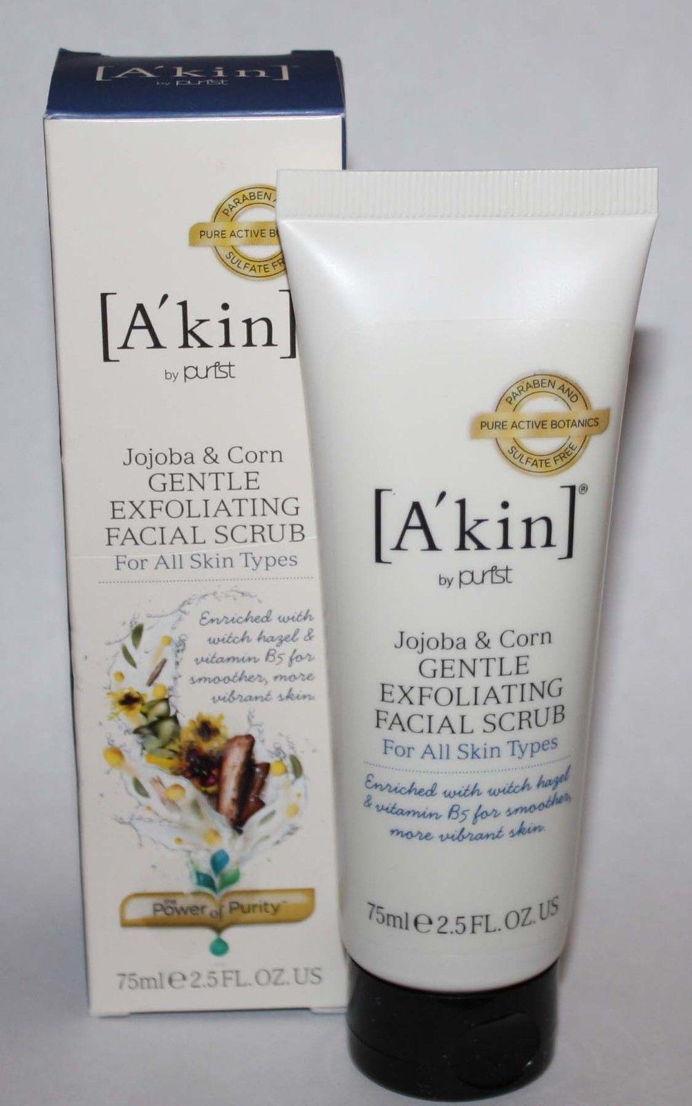 A'Kin Jojoba and Corn Gentle Exfoliating Facial Scrub For all Skin Types 2.5 oz 09575