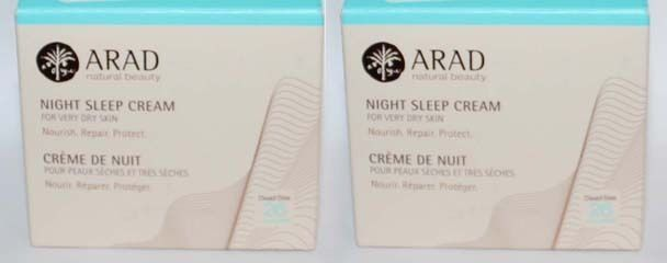 Lot 2 ARAD Natural Beauty Night Sleep Cream For Very Dry Skin 1.7 oz Each 07211