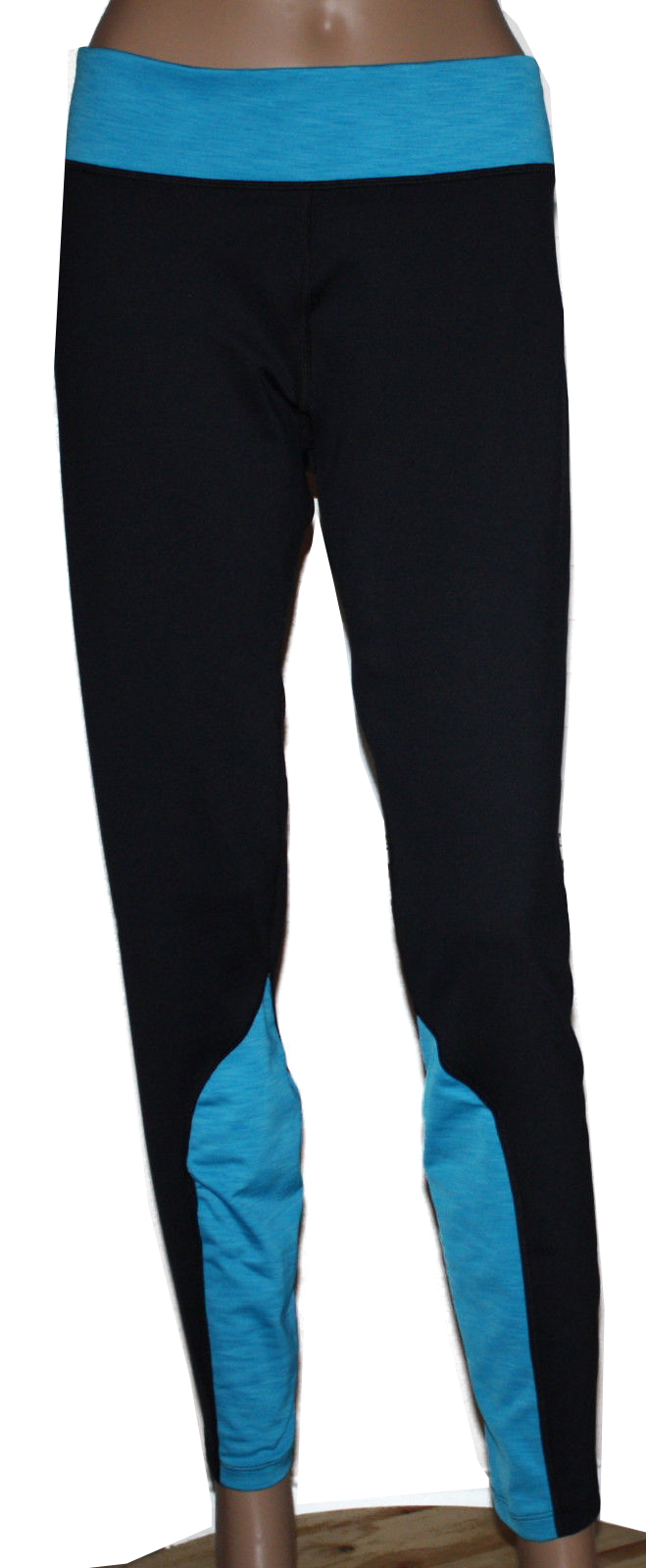 Under Armour Coldgear Women's Black/Pirate Blue Fitted Pants (X-Large) 10001