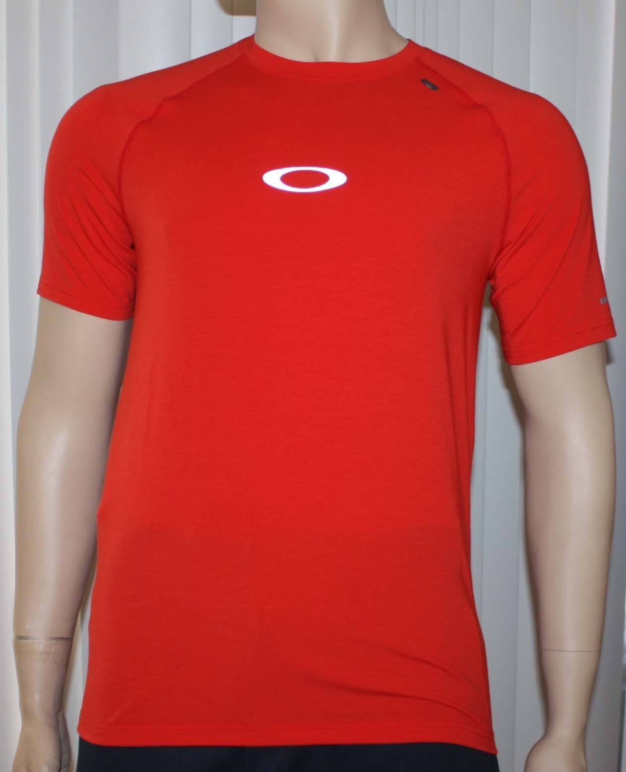 Oakley STRIDE TEE Men's O Hydrolix Red Line T-Shirt (Small) 10280