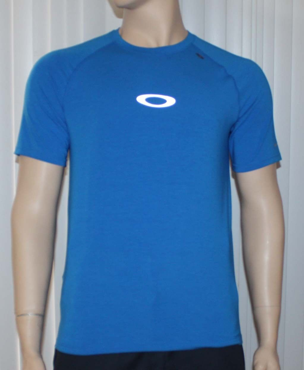 Oakley STRIDE TEE Men's O Hydrolix Electric Blue T-Shirt (Small) 10281