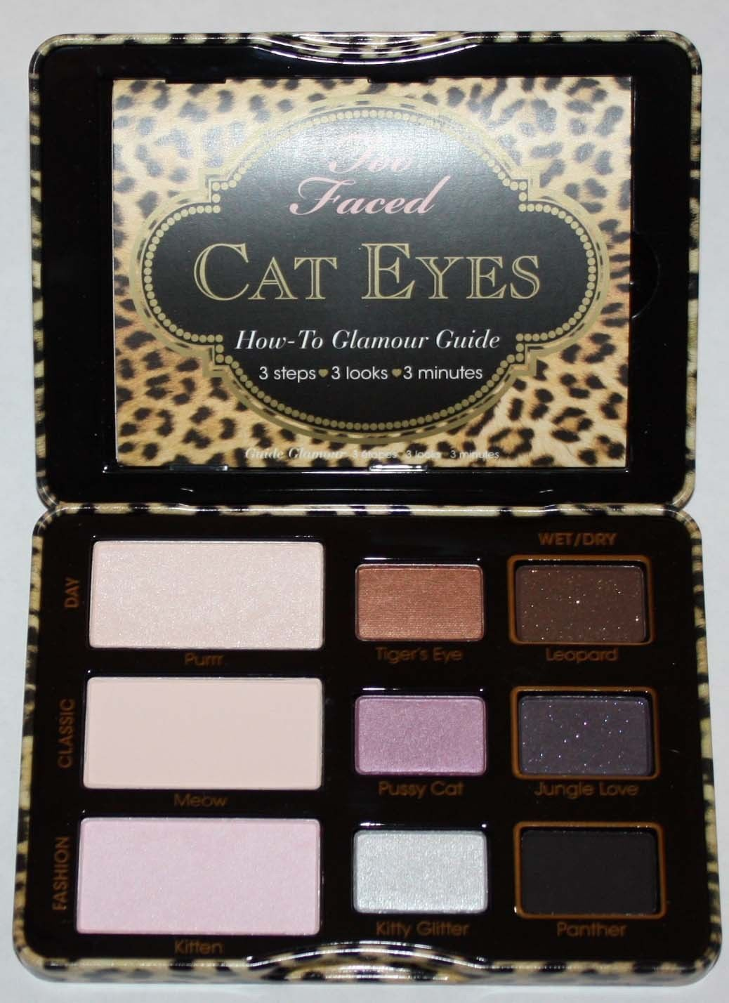 Too Faced Cat Eyes Purrrfection Eye Shadow/Liner/Brush/Shadow Primer Kit 10350