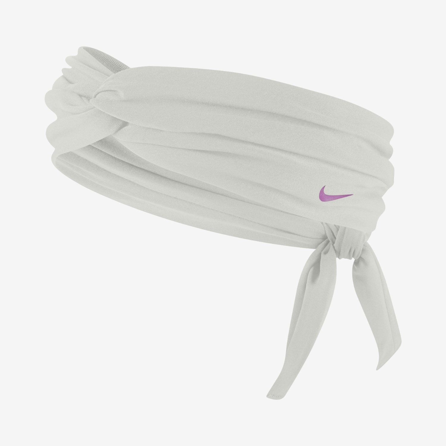 Nike Studio Unisex Twist White/Lavender Swoosh Head Tie (One Size) 10404