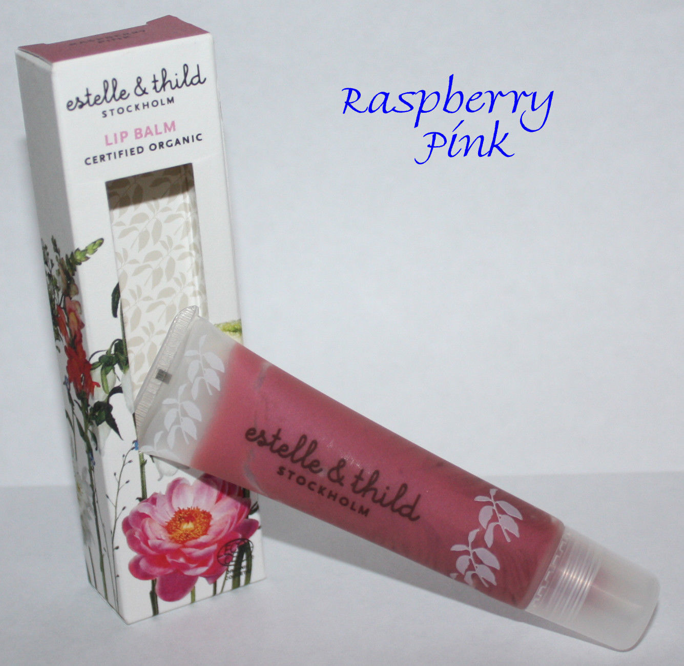 Estelle & Thild Stockholm Certified Organic RASPBERRY PINK Lip Balm 0.52 oz 10841