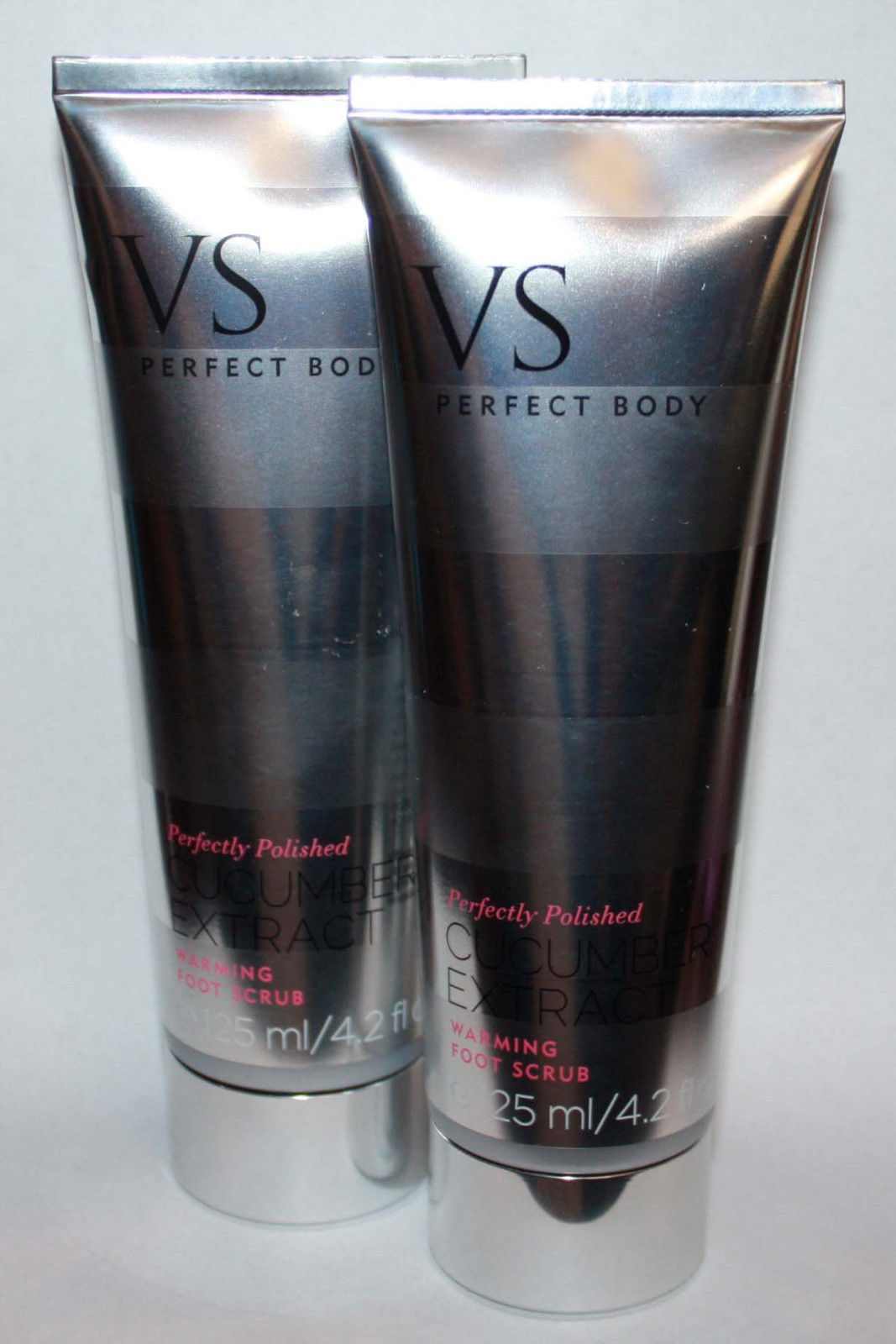 2 Victoria's Secret Perfectly Polished Cucumber Extract Foot Scrub 4.2 oz 11287