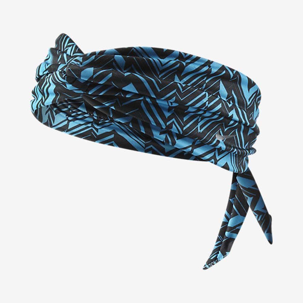 Nike Studio Unisex Twist Blue/Black Printed Head Tie (One Size) 11382